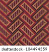 Style Seamless Brown Red Brown Yellow Color Knitted Pattern - stock vector