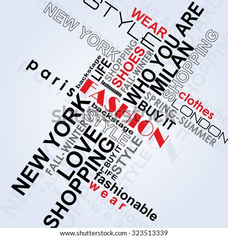 STYLE word cloud concept. Vector illustration - stock vector