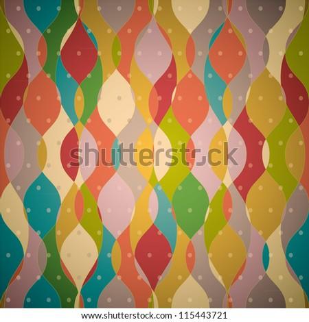 Stylish Abstract Summer Pattern. Grunge style - stock vector