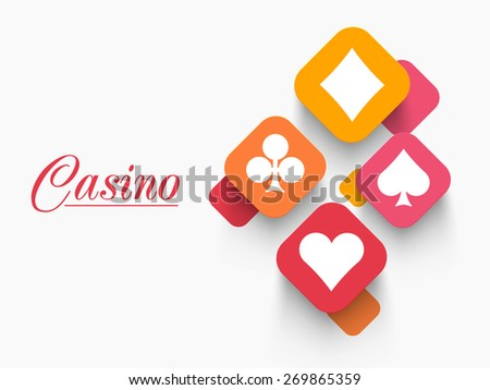 Stylish ace cards with for Casino. - stock vector