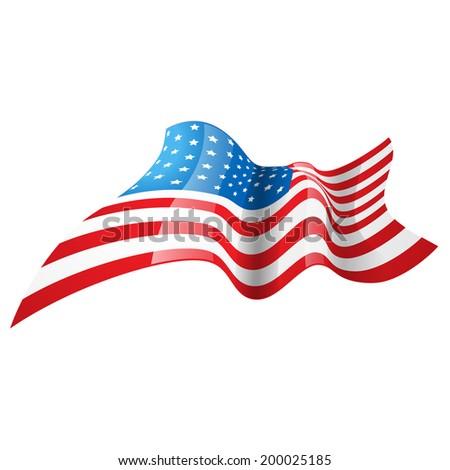 stylish american flag design illustration - stock vector