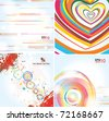 Stylish backgrounds on different topics - stock