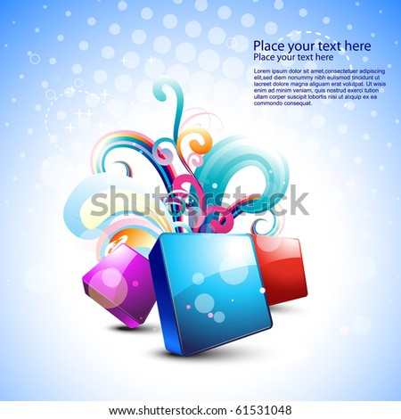 stylish beautiful abstract vector art - stock vector