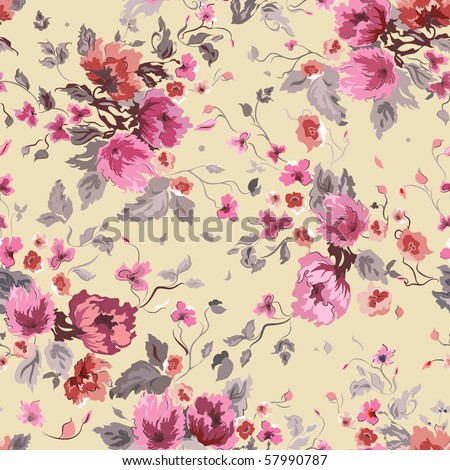 Stylish beautiful bright floral pattern, vector elegance background - stock vector