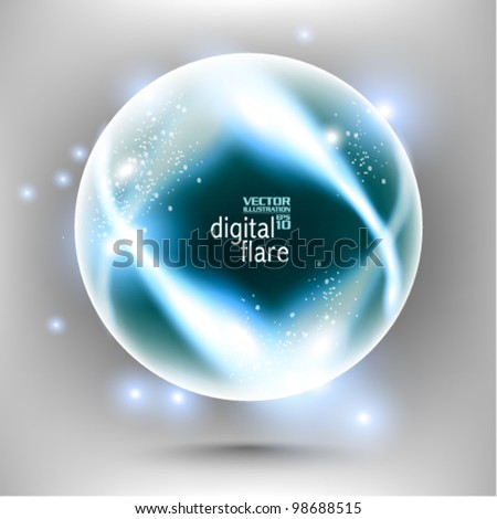 stylish blue digital flare design