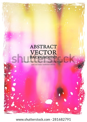 stylish blurred background in pink and orange - stock vector