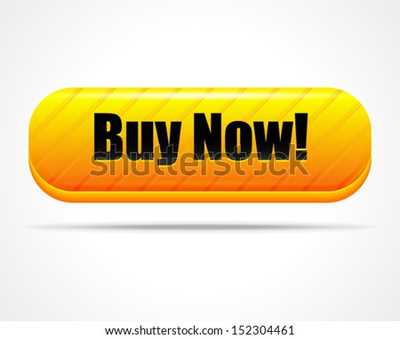 """Stylish """"Buy now!"""" button - stock vector"""