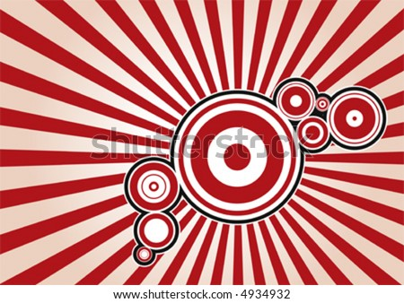 Stylish circle background - stock vector