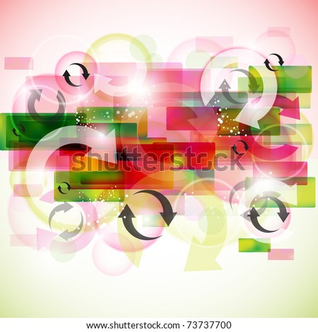 Stylish colorful arrows background - stock vector