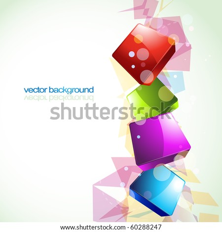 stylish colorful eps10 vector design artwork - stock vector