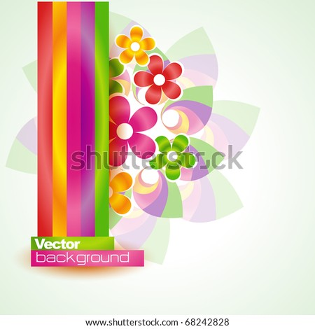 stylish colorful flower. Eps10 vector
