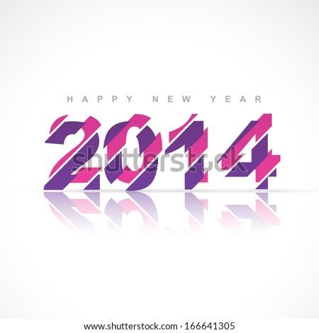 stylish creative happy new year design - stock vector