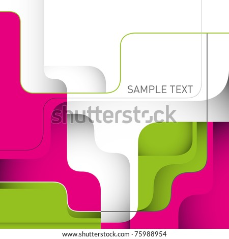 Stylish designed layout with modern shapes. Vector illustration. - stock vector