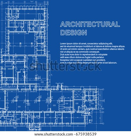 Detailed architectural plan vector blueprint modern vectores en stylish detailed architectural plan vector building blueprint modern abstract background malvernweather Image collections