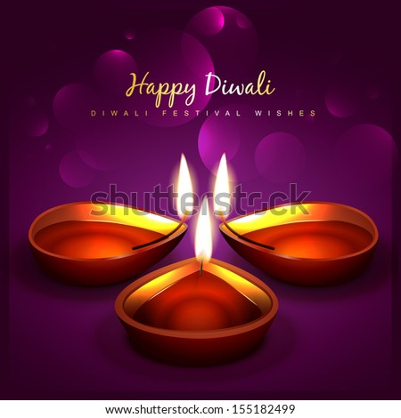 stylish diwali festival vector design - stock vector
