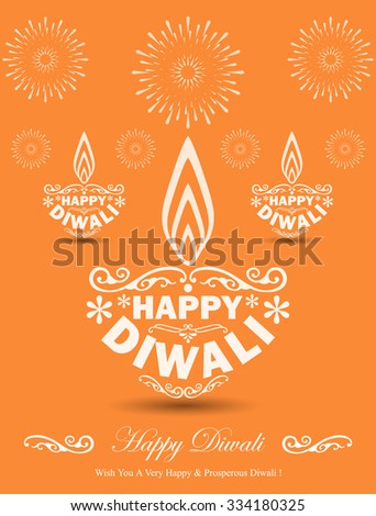 Stylish Diwali Lamps Design - stock vector