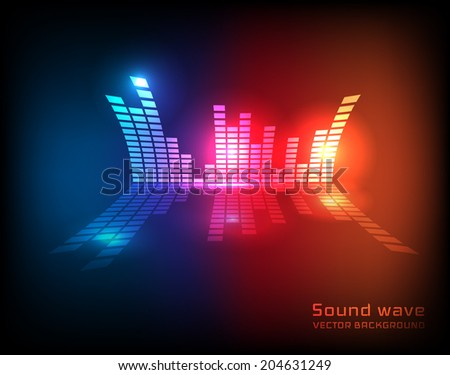 Stylish equalizer background. Vector eps10 - stock vector