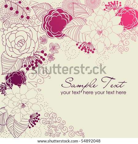 Stylish floral background - stock vector