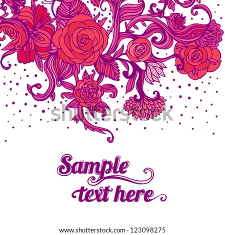 Stylish floral Valentine's day background. Element for design. Vector illustration. - stock vector