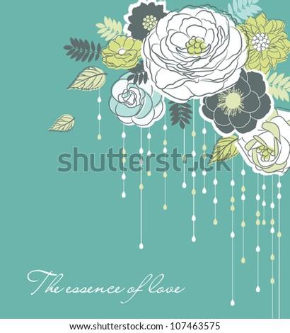 stylish flower background - stock vector