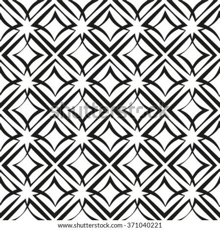 Stylish geometric texture. Monochrome. Vector illustration. Seamless pattern. - stock vector