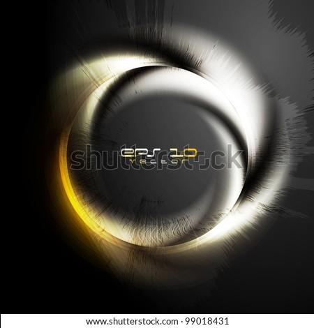 Stylish glossy ring on grunge background. Vector logo eps 10 - stock vector