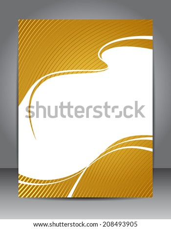 Stylish gold presentation of business poster. Design layout template  - stock vector