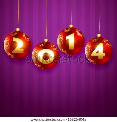 stylish golden happy new year design background - stock vector