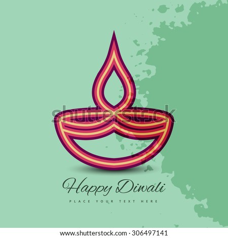 stylish happy diwali card colorful vector background - stock vector