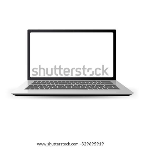 stylish laptop vector. vector illustration - stock vector