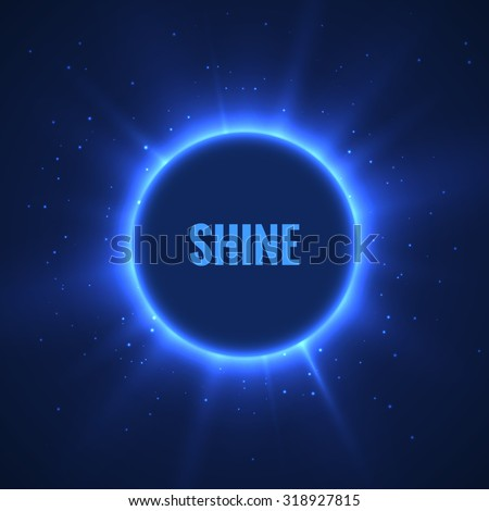 Stylish lights round vector banner background. Eps10. - stock vector