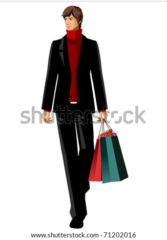 stylish man - stock vector