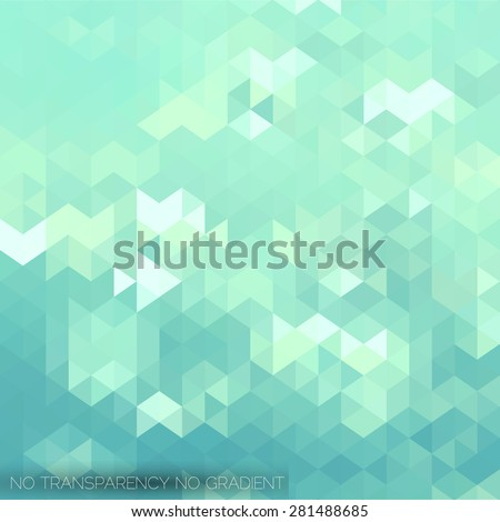 Stylish mosaic background with turquoise green color tones - stock vector