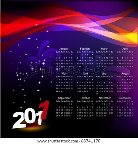 stylish new year calendar design