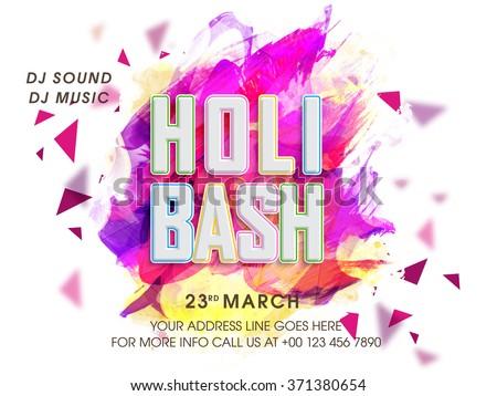 Stylish party invitation card design indian stock vector 371380654 stylish party invitation card design for indian festival of colours happy holi celebration stopboris Images