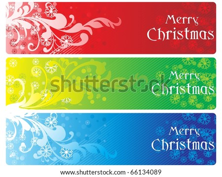 stylish pattern merry xmas banner, vector illustration - stock vector