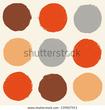 Stylish pattern with color grunge circles. Vector illustration
