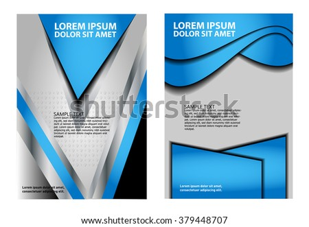 stylish presentation cover layout template brochure stock vector
