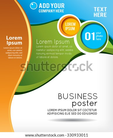 Stylish presentation of business poster, magazine cover, design layout template. Abstract illustration