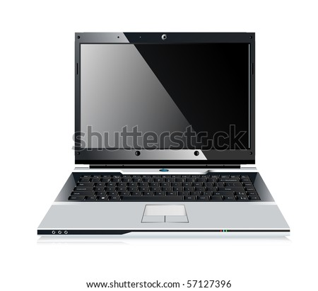 Stylish professional icon of the laptop for your site. - stock vector