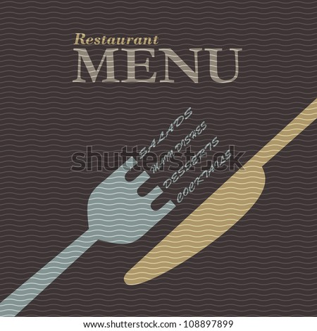 Stylish restaurant menu design. Vector template - stock vector