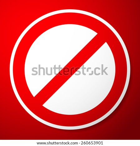 Stylish Restricted, Prohibited Sign - stock vector
