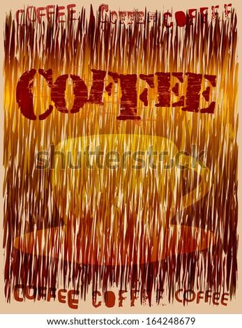 stylish retro coffee design, vector illustration - stock vector