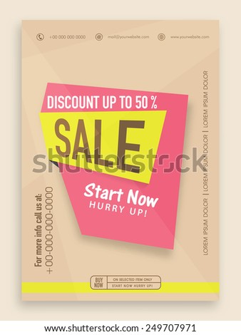 Stylish sale flyer, banner or template with best discount offer. - stock vector