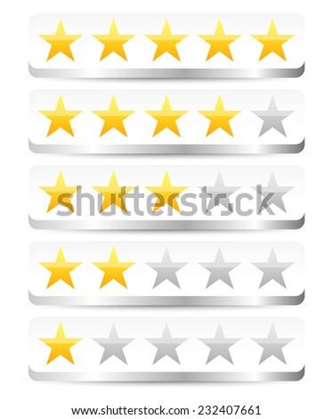 Stylish star rating - stock vector