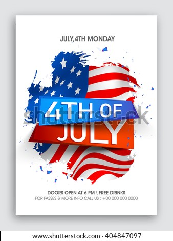 fourth of july flyer template free
