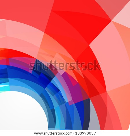 stylish 4th of july background design - stock vector