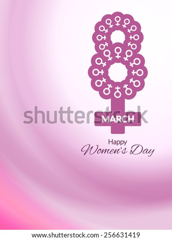 Stylish vector card design for Women's day. - stock vector