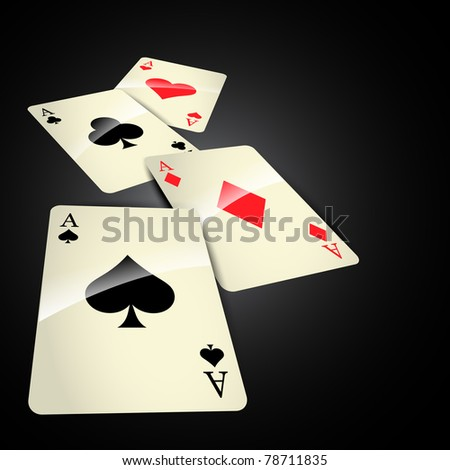 stylish vector casino cards background - stock vector