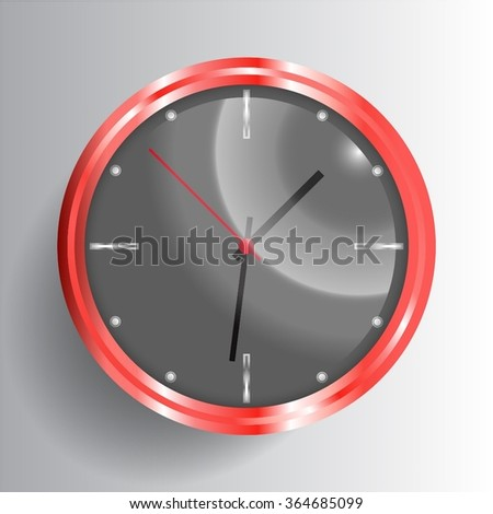 stylish vector clock